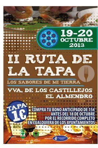 Villanueva de los Castillejos y El Almendro preparan la II Ruta de la Tapa